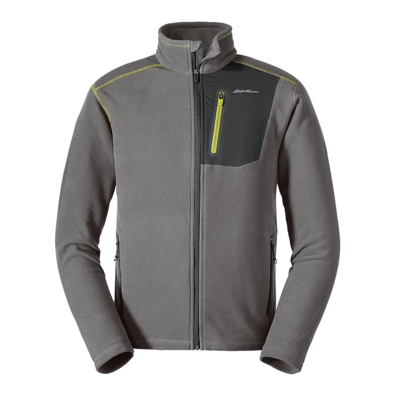 Флисовая кофта мужская  Eddie Bauer Men Cloud Layer Pro Full-Zip Jacket CHROME