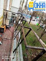 Балкон под ключ в хрущевке с выносом, фото 2