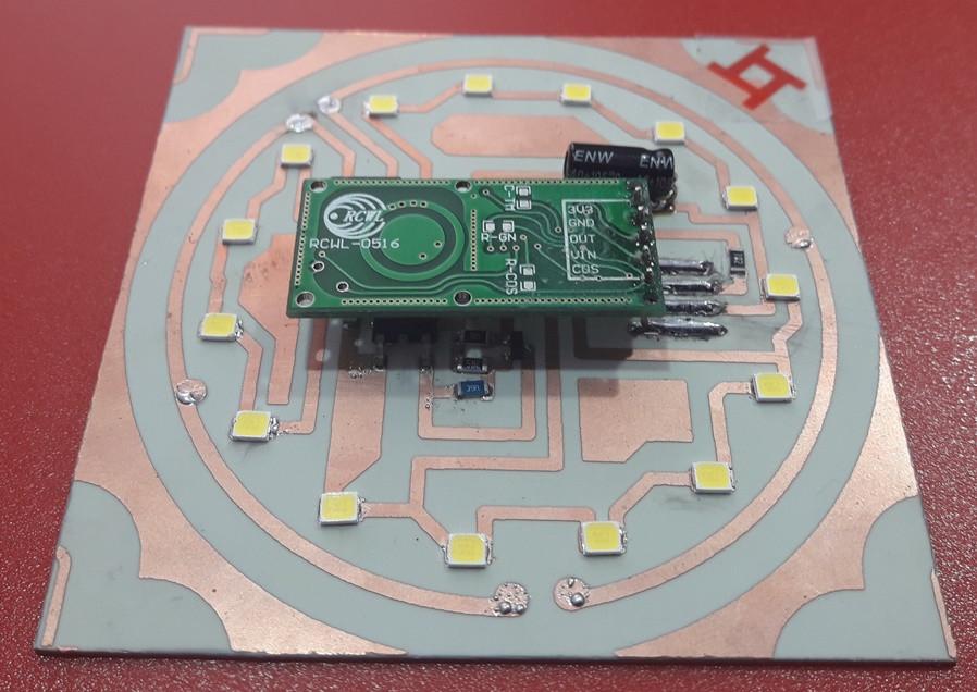 Модуль светодиодный ТМ Fobest для ЖКХ с датчиком движения