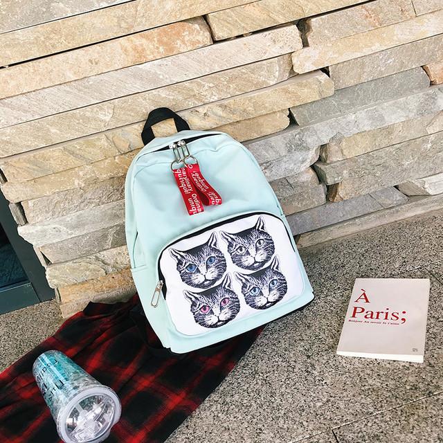 Молодежный рюкзак голубой