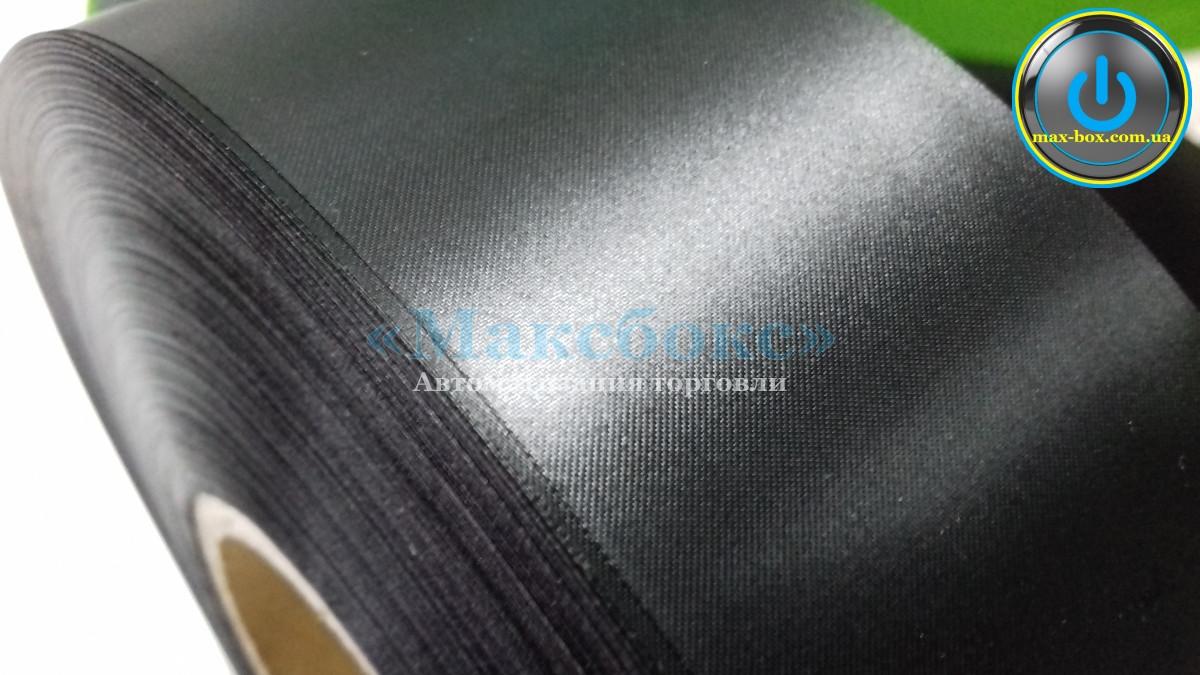 Текстильная лента сатин чёрный Премиум 40 х 183 SRF101BD