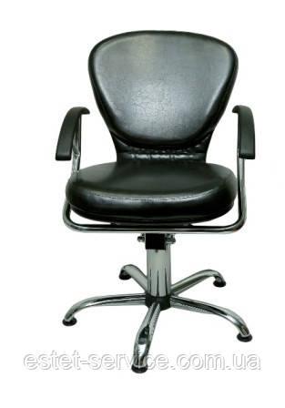 Черное кресло парикмахера ТИНА DS015