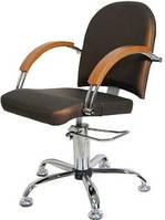 Парикмахерское кресло на гидроподъемнике МИЛА Гидравлика, Кожзам бюджет