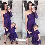 Стильное кружевное платье мама/дочь, подклад шелк армани. , фото 3