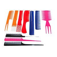 Набор цветных расчесок для волос (10 шт)