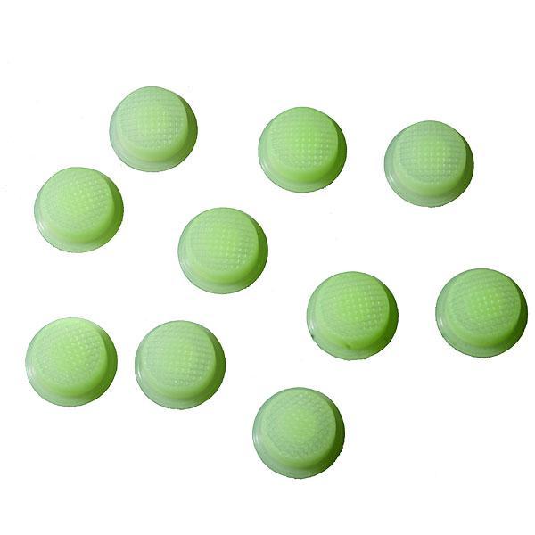 Cиликоновые кнопки для фонарей (14 x 8mm ), зеленые светящиеся в темноте