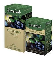 Greenfield Bluberry Nights 100г. (черный чай с черникой)