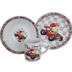 Набор детский из 3-х предметов Мишка гонщик