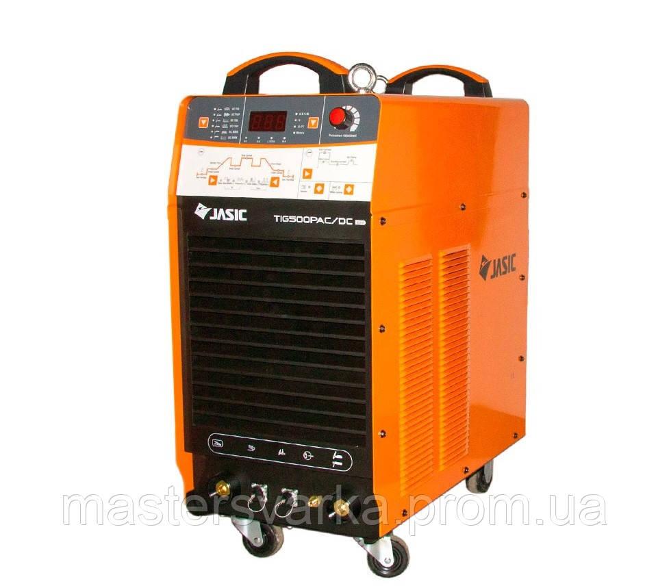 Промышленный сварочный аппарат для аргонодуговой сварки JASIC TIG 500P AC/DC (E312)