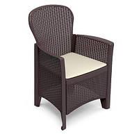 Кресло садовое Folia, кориченевое