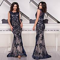 """Элегантное длинное вечернее платье годе со шлейфом """"Айриш"""", фото 1"""