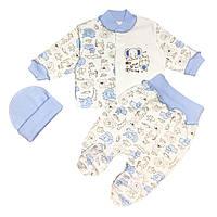 Детский комплект для мальчика Голубой с слоником (6135-083)