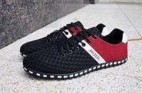 Красные мужские кроссовки, фото 1