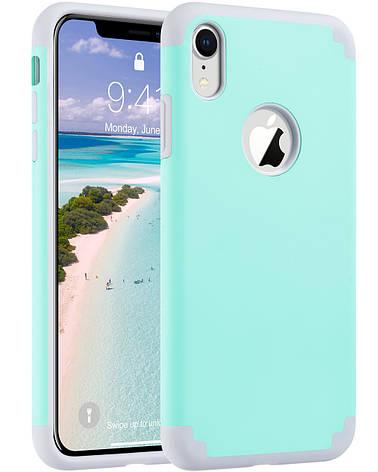 Защитный чехол для Apple iPhone XR 2018 6,1 дюйма ментоловый, фото 2