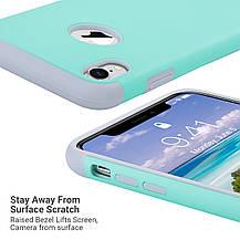 Защитный чехол для Apple iPhone XR 2018 6,1 дюйма ментоловый, фото 3
