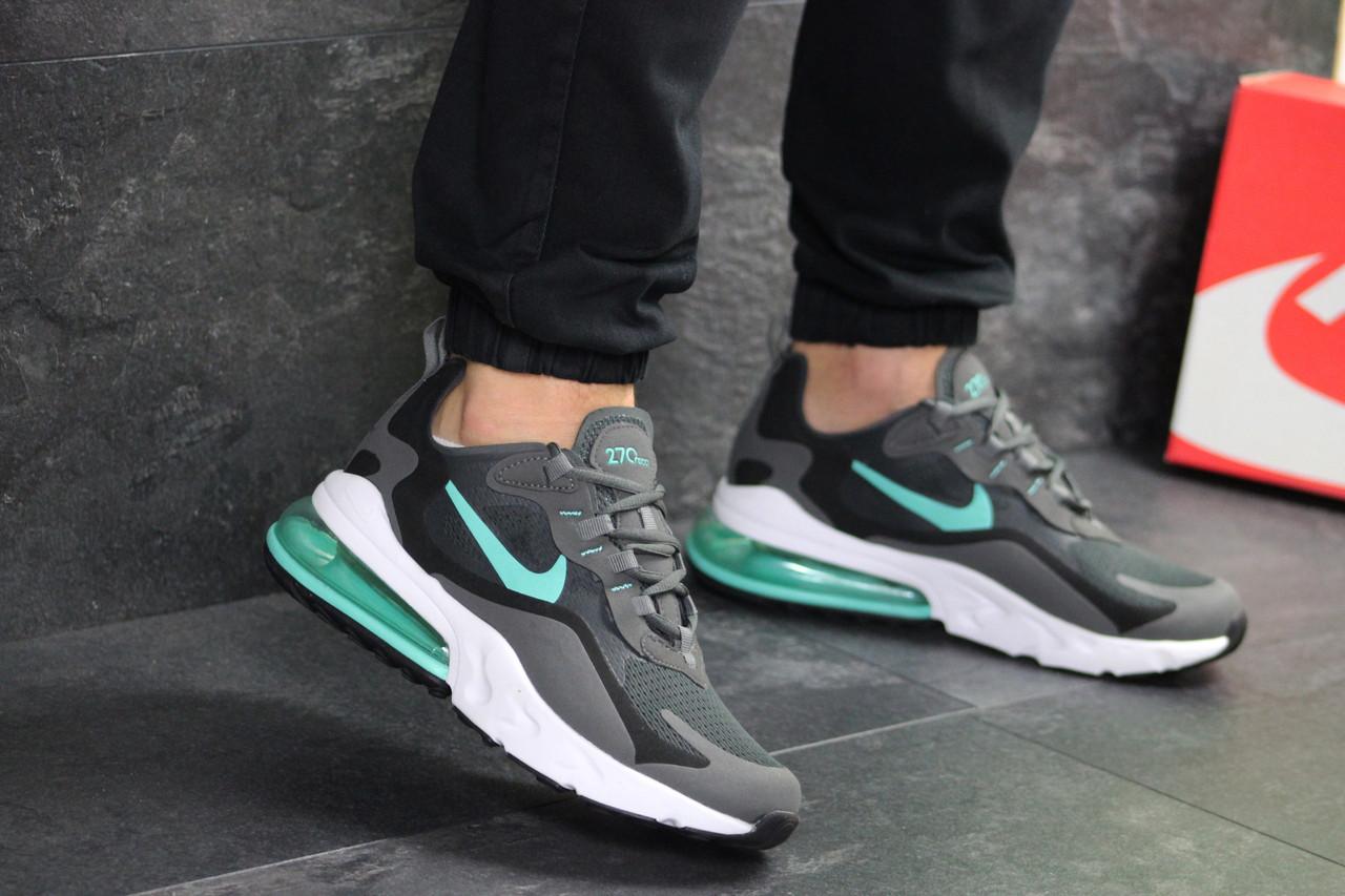 685d7b4c Стильные мужские кроссовки Nike Air Max 270 React • серые с мятным • ТОП  реплика
