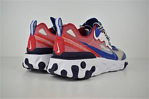 """Кроссовки Nike Undercover React Element 87 """"Синие\Серые\КРасные"""", фото 3"""