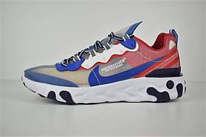 """Кроссовки Nike Undercover React Element 87 """"Синие\Серые\КРасные"""", фото 2"""