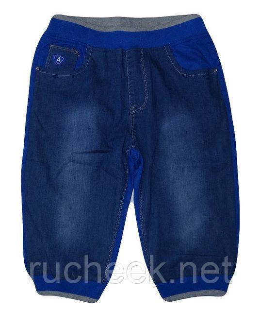 Бриджи для мальчиков, джинс + трикотаж, рост 98, ТМ  Active sport