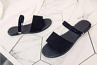 Сандали женские черные на тонкой подошве дешево, фото 1