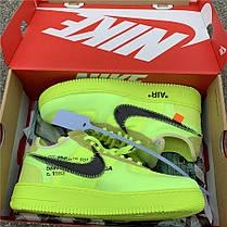 "Кроссовки Off-White x Nike Air Force 1 Low Volt ""Зеленые"", фото 3"