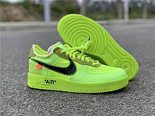 "Кроссовки Off-White x Nike Air Force 1 Low Volt ""Зеленые"", фото 2"