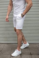 Мужские белые шорты коттон