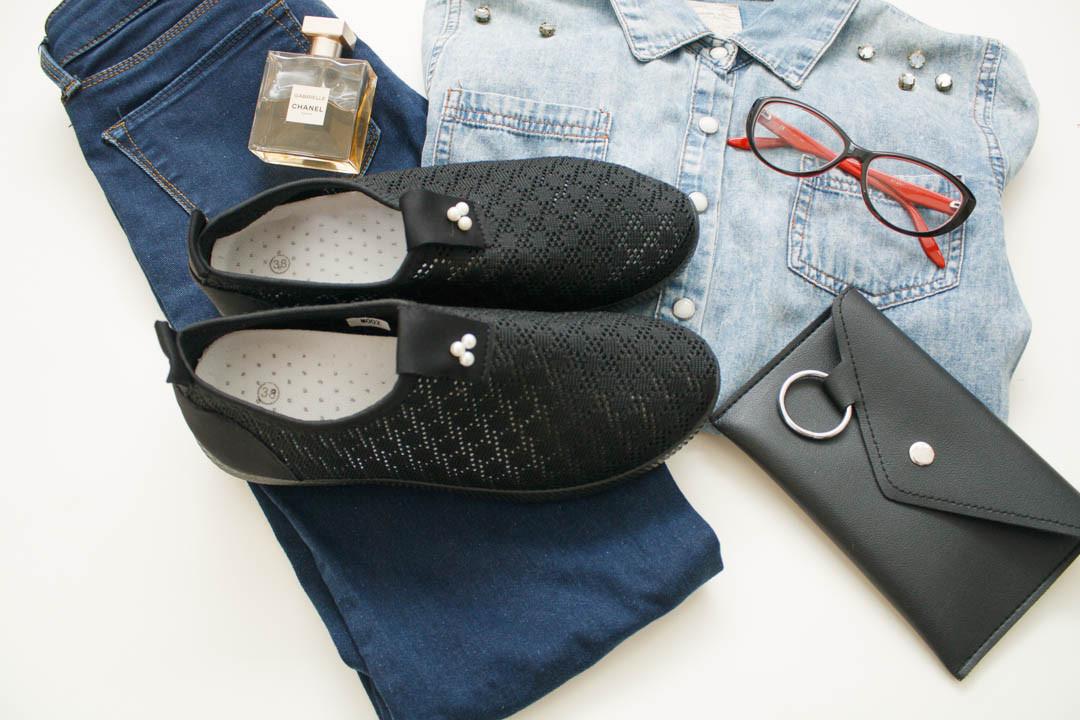 Женские кроссовки (Код: М-002 черный )