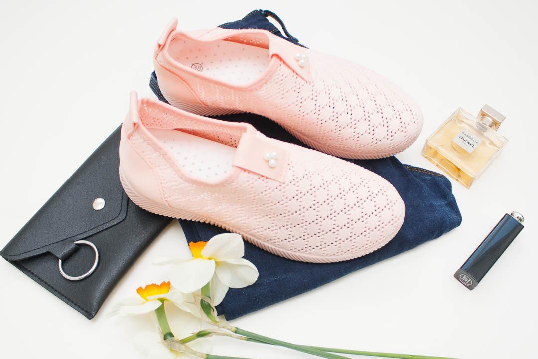 Женские кроссовки (Код: М-002 розовой )