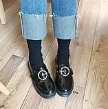 Черные лоферы с ремешком, фото 4