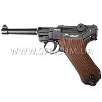 Пистолет пневматическийGletcher P08 Люгер, (4.5mm) Blowback