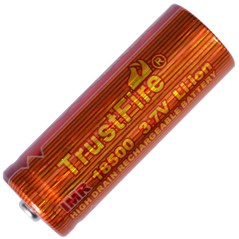 Аккумулятор литиевый Li-Ion IMR 18500 3.7V TrustFire (1100mAh)
