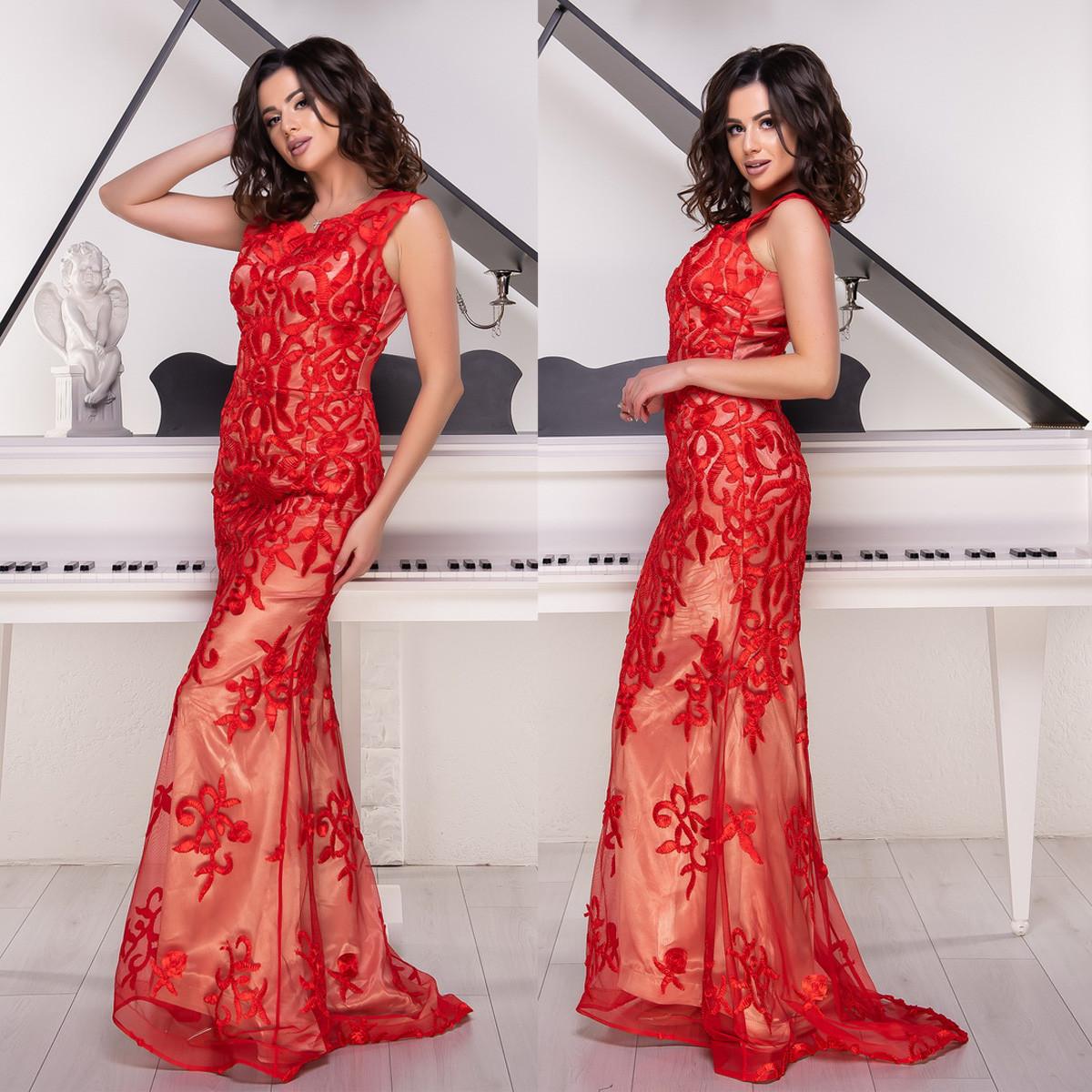 """Червоне русалка плаття зі шлейфом випускний, вечірній Айріш"""""""