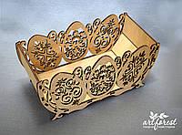 Пасхальная корзина из фанеры