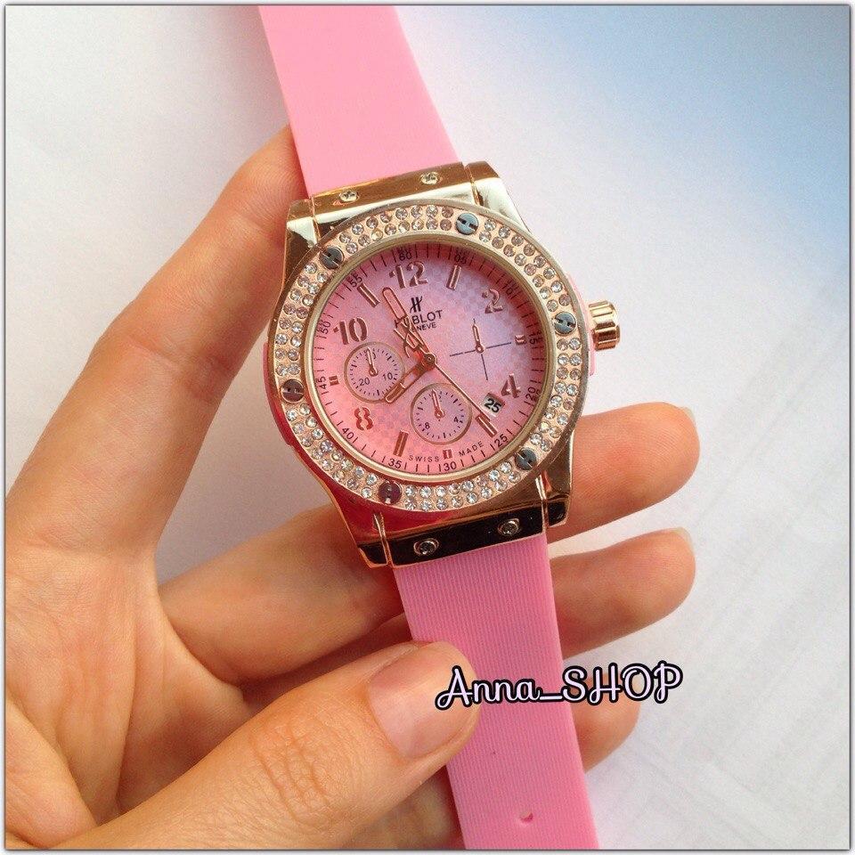 Часы в стиле Х@блот женские розовые
