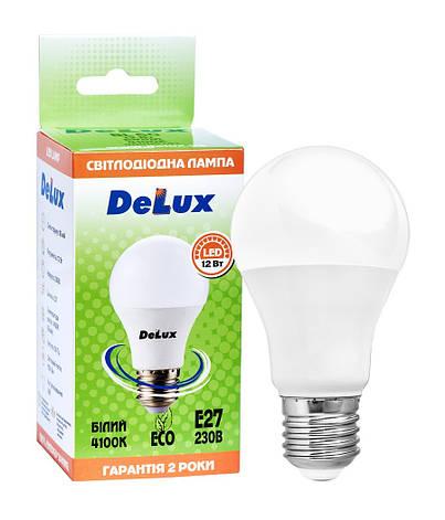 Светодиодная лампа  DELUX  BL60 12Вт E27 белый, фото 2