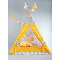 Вигвам, детская палатка KatyPuf + коврик стеганный.