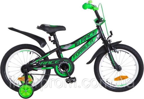 Велосипед детский двухколесный Formula Race 16 черно-салатный OPS-FRK-16-034 , фото 2