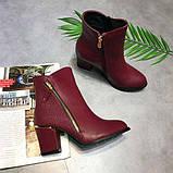 Красные ботинки на каблуках, фото 4
