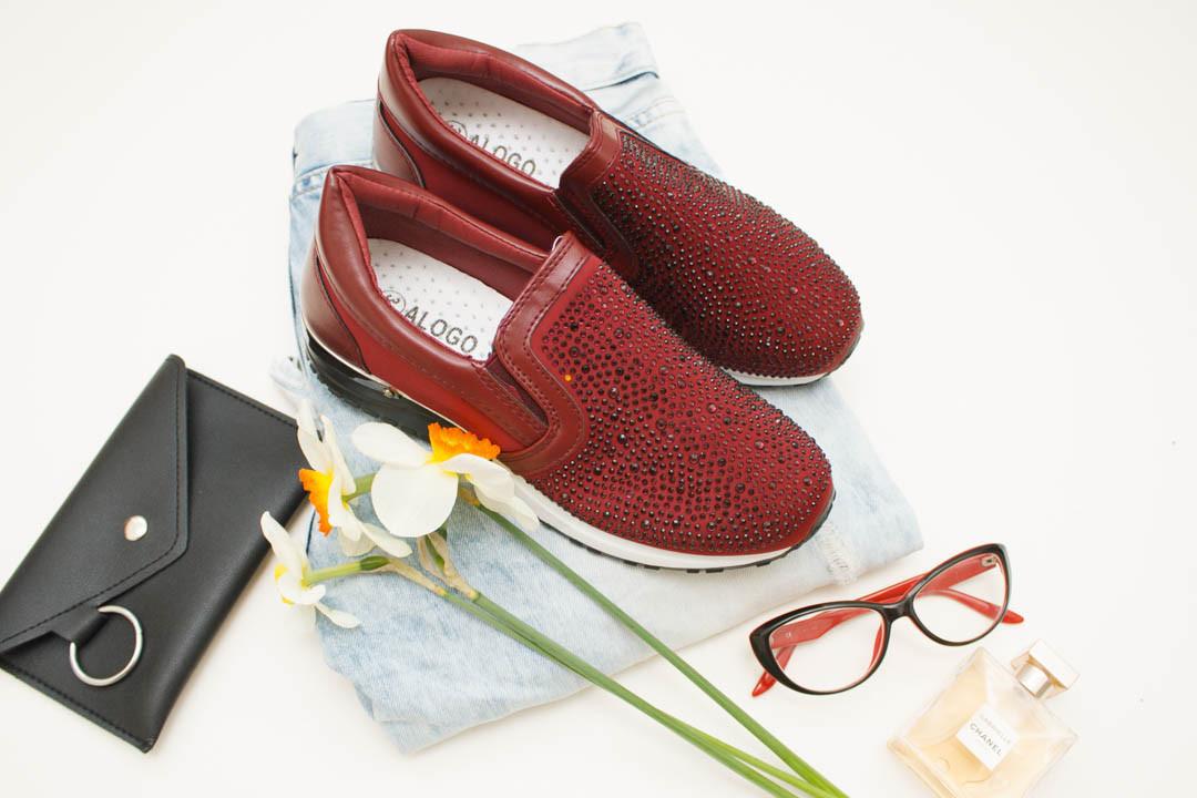 Женские кроссовки (Код: 18-232 красный  )