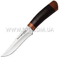 Нож фиксированный с кожанным чехлом (длина: 25.0см, лезвие: 13.0см)