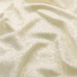 Сатиновий жаккард шириною 240 см з вензельным візерунком, молочного кольору, №2245, фото 2
