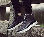 Черные мужские кроссовки на шнуровке, фото 2
