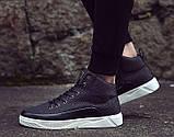 Черные мужские кроссовки на шнуровке, фото 3