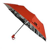 Женский зонтик полуавтомат Bellissimo с узором изнутри и тефлоновой пропиткой, 18315-3