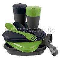 Набор посуды LIGHT MY FIRE Pack'n Eat Kit (8 предметов), зеленый/черный