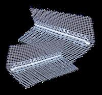 Профиль угловой алюминиевый с сеткой, 3 м.