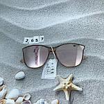 Стильные солнцезащитные очки цвет пудри, фото 3