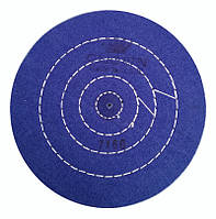 Круг полировальный муслиновый синий d-175 мм. 50 слоев