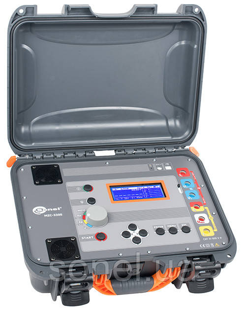 Вимірювач параметрів петлі короткого замикання (петля фаза-нуль) сертифікований MZC-320SUA